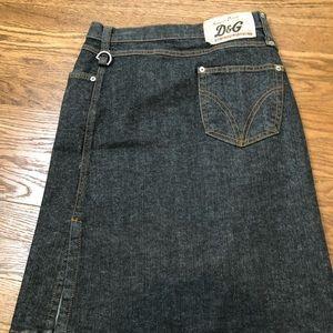 D&G wrap denim skirt